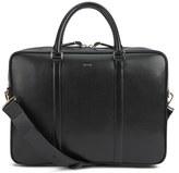 Paul Smith Accessories City Embossed Medium Folio Laptop Bag Black