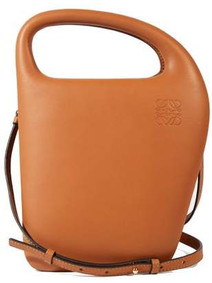 Loewe Architects D Leather Top-handle Bag - Womens - Tan