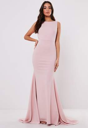 Missguided Tall Bridesmaid Blush Sleeveless Low Back Maxi Dress