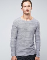 Selected Homme Jumper In Waffle Texture