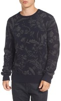 French Connection Men's Fumio Intarsia Lambswool Blend Sweater