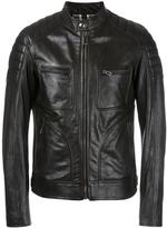 Belstaff zipped leather jacket - men - Leather/Cotton - 50