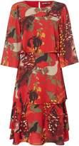 Biba Printed Frill Layered Dress