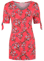 George Bright Floral Print Tunic Top