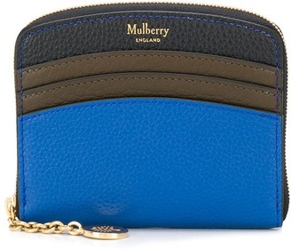 Mulberry curved small zip around wallet