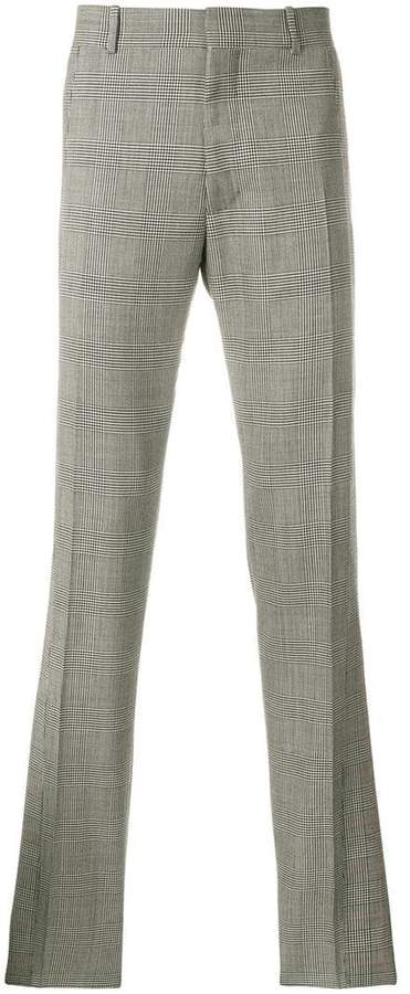 Alexander McQueen straight-leg checked trousers