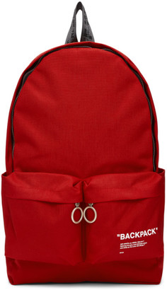 Off-White Red Quote Backpack