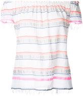 Lemlem off shoulders striped top - women - Cotton/Acrylic - S