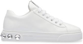 Miu Miu patent crystal sneakers