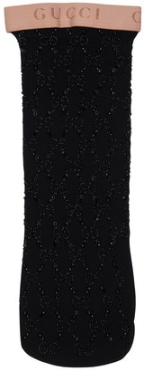 Gucci Gg Embellished Elastic Socks