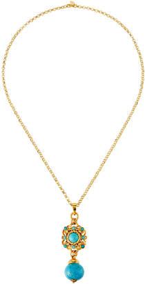 Jose & Maria Barrera Large Bead Pendant Necklace, Turquoise