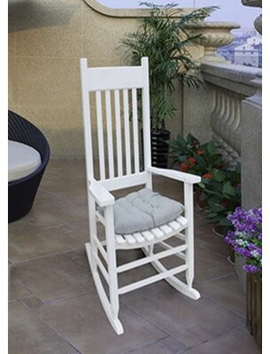 Red Barrel Studio Rocking Chair Color: White