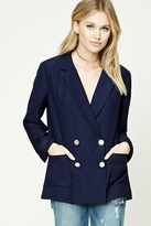 Forever 21 Contemporary Button-Up Blazer