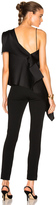 Roland Mouret Iver Double Faced Satin Top