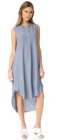 L'Agence Morocco Sleeveless Shirt Dress