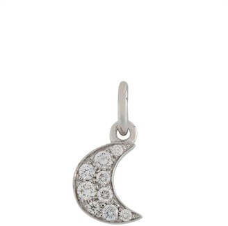 Dodo 18kt white gold Follow Your Dreams diamond moon pendant