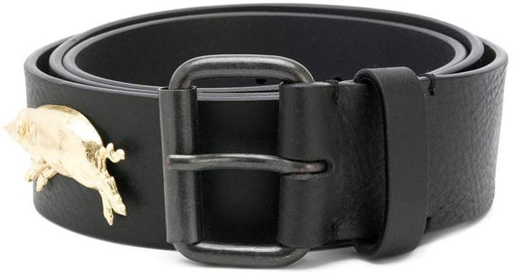 Y/Project Y / Project logo plaque buckle belt