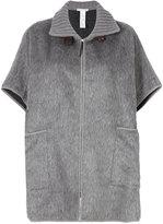 Fabiana Filippi short-sleeve oversized coat - women - Alpaca/Merino - One Size