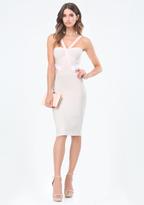 Bebe Colorblock Bandage Dress