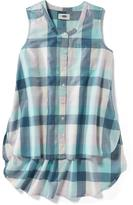 Old Navy Hi-Lo Plaid Tunic for Girls