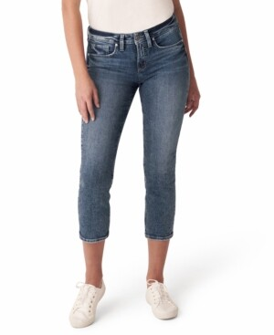 Silver Jeans Co. Suki Curvy-Fit Cropped Jeans