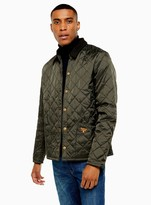 TopmanTopman BARBOUR BEACON Green Starling Quilted Jacket