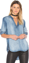 Bella Dahl Pleats Back Top in Blue. - size S (also in XS)