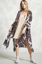Forever 21 FOREVER 21+ Longline Paisley Kimono