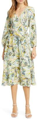 Diane von Furstenberg Evelyn Print Long Sleeve Wrap Dress