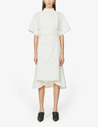 Vesture Short-sleeve cotton-pique midi dress