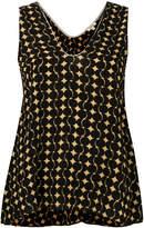 Bellerose flared geometric vest top