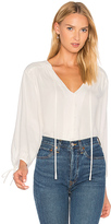 Frame Lace Up Shirt in White