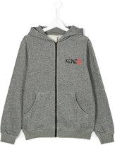 Kenzo zip front printed hoodie