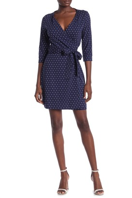 Diane von Furstenberg New Julian Polka Dot Wrap Dress