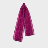 Paul Smith Women's Fuchsia 'Leopard' Print Cashmere-Blend Scarf