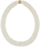 "Belpearl 14k Multi-Row Freshwater Pearl Woven Necklace, 17""L"