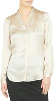 David Lawrence Remi Stud Collar Silk Shirt