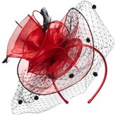 Nordstrom Women's Dot & Feather Fascinator Headband - Black