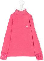 MonnaLisa lace cuff knitted top
