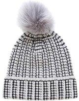 Diane von Furstenberg Fox Fur-Trimmed Knit Beanie