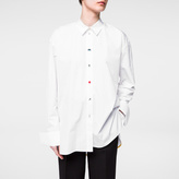Paul Smith Women's White Double-Cuff Shirt With Charm Buttons