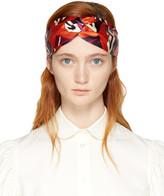 Gucci Orange and Purple Gg Cube Headband