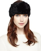 Neiman Marcus Rabbit Fur Headband, Black