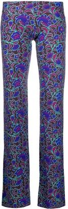 Fisico Funi floral-print wide leg trousers