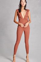 Forever 21 FOREVER 21+ Lace-Up Grommet Jumpsuit