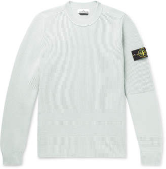 Stone Island Logo-Appliqued Wool-Blend Sweater