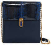 Oscar de la Renta Slim Sloane Genuine Snakeskin Detail Shoulder Bag