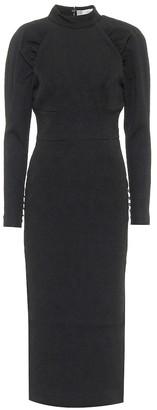 Rebecca Vallance Martini textured crepe midi dress
