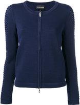 Emporio Armani zip front cardigan - women - Viscose/Polyimide - 38