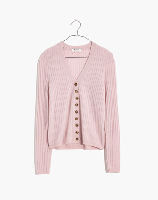 Madewell Cashmere Ribbed Slim Cardigan Sweater